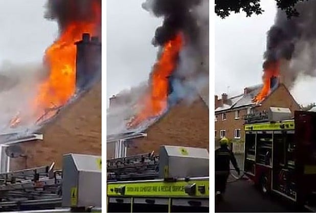Solar Panel Blaze In Taunton Uk Solar Pv Safety For